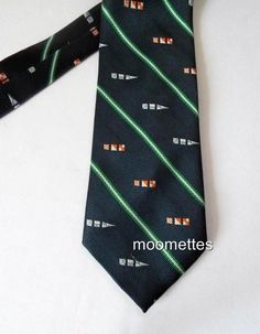 Rooster Silk Tie Navy Green Ruffler Collection Signal Pennants Flag Mens Necktie #Rooster #NeckTie