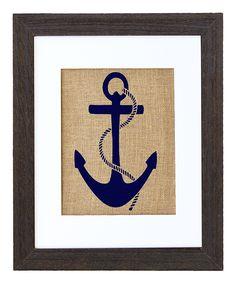 DIY inspiration-Nautical Anchor Framed Burlap Print