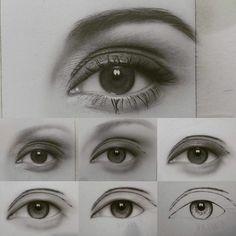 Realistic Drawings Drawing eye step by step by artist saeiddasdar Eye Pencil Drawing, Pencil Drawings Of Animals, Realistic Eye Drawing, Drawing Eyes, Eye Drawing Tutorials, Drawing Techniques, Eye Sketch, Wow Art, Art Drawings Sketches