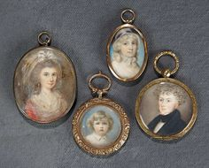 """""""The Voyage Continues"""" - Saturday, January 7, 2017: 289 Four Small Victorian Hand-Painted Miniature Paintings"""