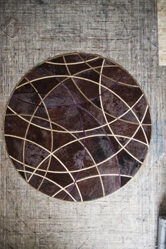Our Round Silhouette Design shown in Barley, Chocolate, Ivory, and Pinot