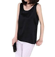Fashion Women 100% Silk Sleeveles Tank Tops Summer Clothing Casual Tops Shirts   eBay