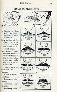 Styles of Mustaches