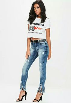 You can never have too many jeans so click this way to shop the newest collection of skinny, mid rise and high waisted jeans at Missguided. Ripped Mom Jeans, Mid Rise Skinny Jeans, Boyfriend Jeans, High Waist Jeans, Missguided, Fitness Fashion, Denim, Pants, Clothes