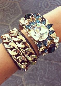 arm candy   women ladies fashion styles.  Beautiful / gorgeous bling bling..jewellery. Accessories