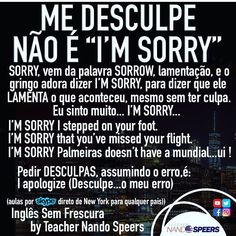 I'm sorry > I apopogize English Help, English Time, Learn English Words, English Study, English Lessons, English Vocabulary Words, English Phrases, English Grammar, Language Study