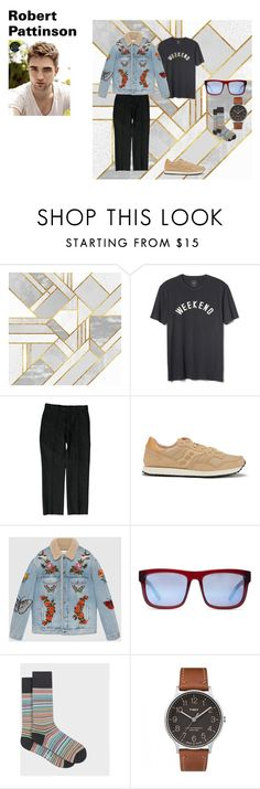 """outfit 4"" by mazzagliadavide on Polyvore featuring Gap, Gucci, Saucony, Spy Optic, Paul Smith, Timex, men's fashion e menswear"