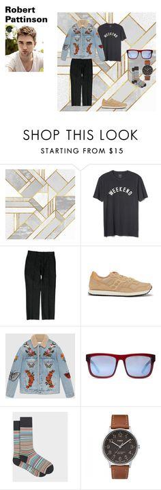"""outfit 4"" by mazzagliadavide on Polyvore featuring Gap, Gucci, Saucony, Spy Optic, Paul Smith, Timex, men's fashion e menswear"