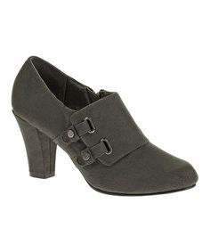 Look at this Dark Gray Callie Pump on #zulily today!