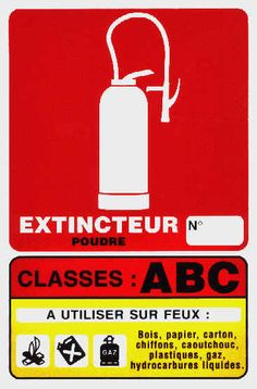 PANNEAU CLASSE DE FEUX