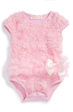 Popatu Soutache Floral Bodysuit (Baby Girls) available at #Nordstrom