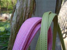 Loft Creations: How to Make Bag Handles Diy Handbag, Diy Purse, Fabric Bags, Sew Bags, Tote Bags, How To Make Purses, Purse Handles, Couture Sewing, Craft Bags
