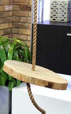 Tree Trunk Tire Swing