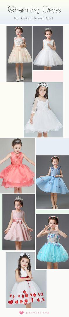 Charming Dress for Cute Flower Girl! #flowergrildress