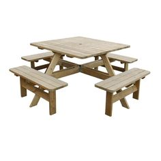 Square Picnic Table - CG096 - Buy Online at Nisbets
