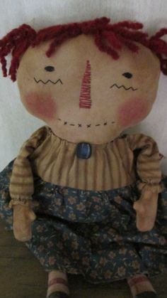 Primitive Raggedy by Bettesbabies on Etsy, $39.00