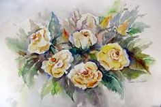 Yelow roses. Watercolor Laura Climent Roses Only, Floral Wreath, Wreaths, Watercolor, Home Decor, Art, Pen And Wash, Art Background, Watercolor Painting