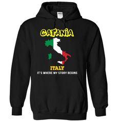 Catania, Italy - #retirement gift #novio gift. PURCHASE NOW => https://www.sunfrog.com/LifeStyle/Catania-Italy-kcbwk-Black-4427411-Hoodie.html?68278