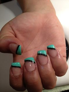 Gel nails. Like the colours but I like regular French tips.