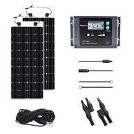 Renogy 400 Watt 12 Volt Off Grid Solar Premium Kit With Monocrystalline Solar Panel And 40a Mppt Rover Controller Walmart Com Flexible Solar Panels Monocrystalline Solar Panels Solar Panels