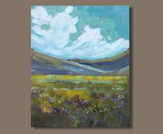 landscape painting impressionist painting field painting