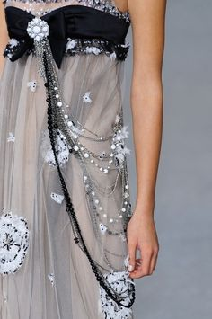 Decorative detail for an elegant gown!