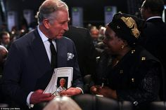Prince Charles at the funeral for Nelson Mandela as he was laid to rest in his village of Qunu.