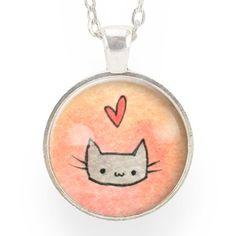 Kawaii Kitty Cat Necklace – CellsDividing