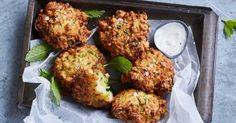 For a quick snack, try these speedy zucchini and haloumi fritters, ready in just 20 minutes!