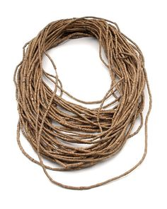 Africa | Sandalwood necklace from Somalia | 1st half of the 20th century