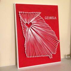 Georgia string art.