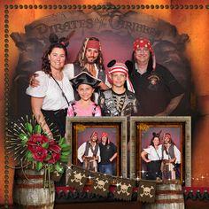 Disney Cruise Scrapbook Layout - Pirate Night