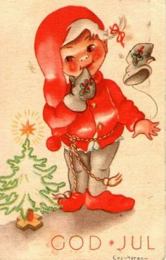 Julekort COUCHERON Utg Mittet stemplet 1946 Christmas Postcards, Christmas Cards, Norway, Disney Characters, Fictional Characters, Anna, Disney Princess, Christmas E Cards, Xmas Cards