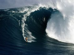 Completely fascinated by big wave surfing
