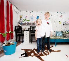 the boo and the boy: eclectic colourful kids' rooms