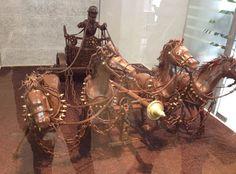 Carro de caballos, en el Museo del Chocolate de Barcelona. Impresionante!