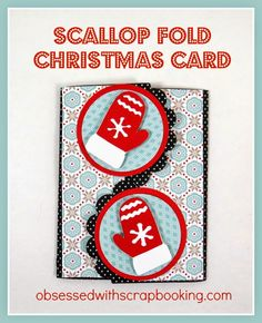 [Video]Close to My Heart Artiste Scallop Circle Christmas Card