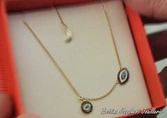 A beautiful gift from Michael Strahan. This necklace matches Kelly's evil eye bracelet from London Jewelers.