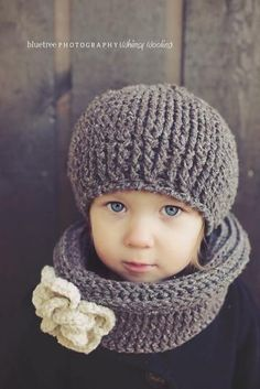 PATTERN: Ciao Bella Beret  Neck Warmer, Crochet, Toddler