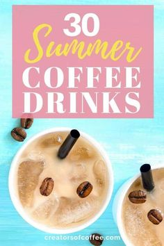 Enjoy ice cold coffee this summer with the best cold coffee drinks. From cold brew coffee to the best iced coffee, we share 30 ways to drink coffee cold. Healthy Coffee Drinks, Cold Coffee Drinks, Cold Brew Coffee Recipe, Making Cold Brew Coffee, Coffee Breakfast Smoothie, Coffee Smoothie Recipes, Coffee Milkshake, Coffee Recipes, Best Iced Coffee