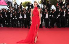 red dress - Cannes Festival