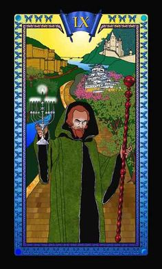 The Lilith Bible Tarot, The Hermit