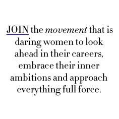 Join a movement for women.