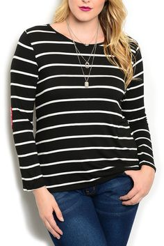 DHStyles Women's Black White Plus Size Trendy Sheer Striped Heart Embellished Knit Top #sexytops #clubclothes #sexydresses #fashionablesexydress #sexyshirts #sexyclothes #cocktaildresses #clubwear #cheapsexydresses #clubdresses #cheaptops #partytops #partydress #haltertops #cocktaildresses #partydresses #minidress #nightclubclothes #hotfashion #juniorsclothing #cocktaildress #glamclothing #sexytop #womensclothes #clubbingclothes #juniorsclothes #juniorclothes #trendyclothing #minidresses…
