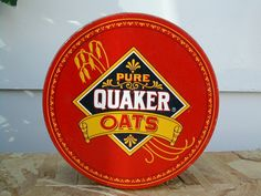 Quaker Oats Commemorative Tin Cooky Tin Storage by MerlinMN, #sellergroup