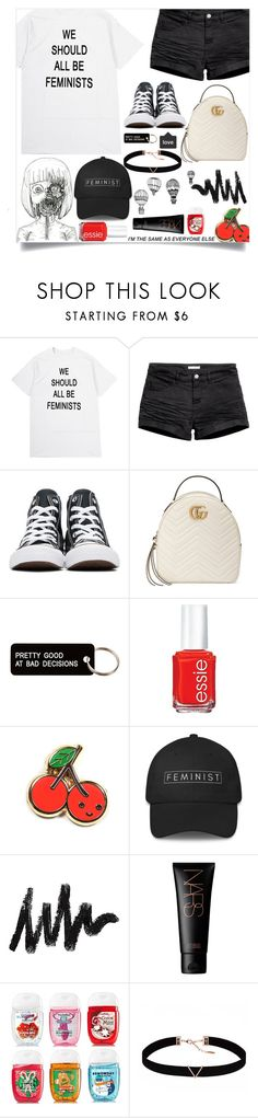 """""""50 days of Kpop series! /// Watching """"The Mummy"""" w/ Bambam! ^^"""" by baekyeoltaekook ❤ liked on Polyvore featuring H&M, Converse, Gucci, Various Projects, Essie, NARS Cosmetics, Astrid & Miyu and INDIE HAIR"""