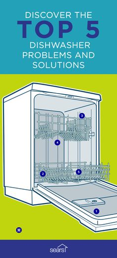 The experts at Sears have seen it all when it comes to dishwasher troubleshooting, in fact, our technicians repaired more than half a million dishwashers last year! Here are the five most common dishwasher problems: dishes not drying, dishwasher not draining, spots or film on glassware, dishwasher running too long and food left on dishes. To see the solutions to the five most common problems that occur with dishwashers check out our interactive photo on the Sears Home Services Knowledge…