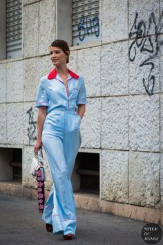 Hanneli Mustaparta Street Style Street Fashion Streetsnaps by STYLEDUMONDE Street Style Fashion Photography
