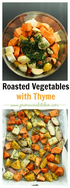 Roasted Root Vegetables with Thyme - primaverakitchen.com