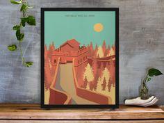 The Great Wall of China Art Print #artprints #wallprints #travelprints #travelarts #chinaartprints #chinawallprints #landscapeartprints #landscapewallprints Travel Wall Art, Great Wall Of China, China Art, Minimalist Art, Travel Posters, Fine Art Photography, Printable Wall Art, Unique Art, Wall Art Prints